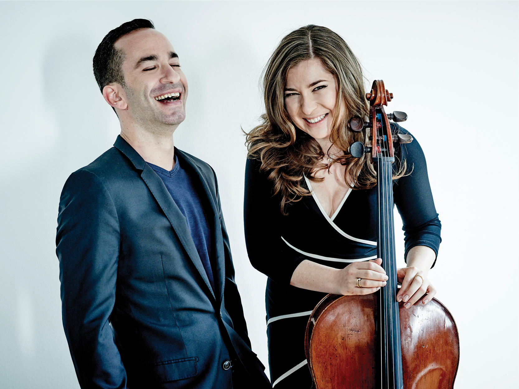 Inon Barnatan and Alisa Weilerstein laughing