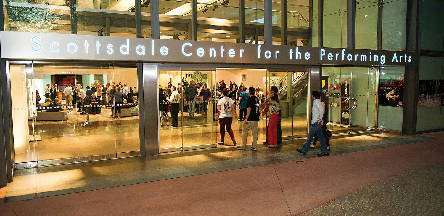 Outside of Scottsdale Center for the Performing Arts