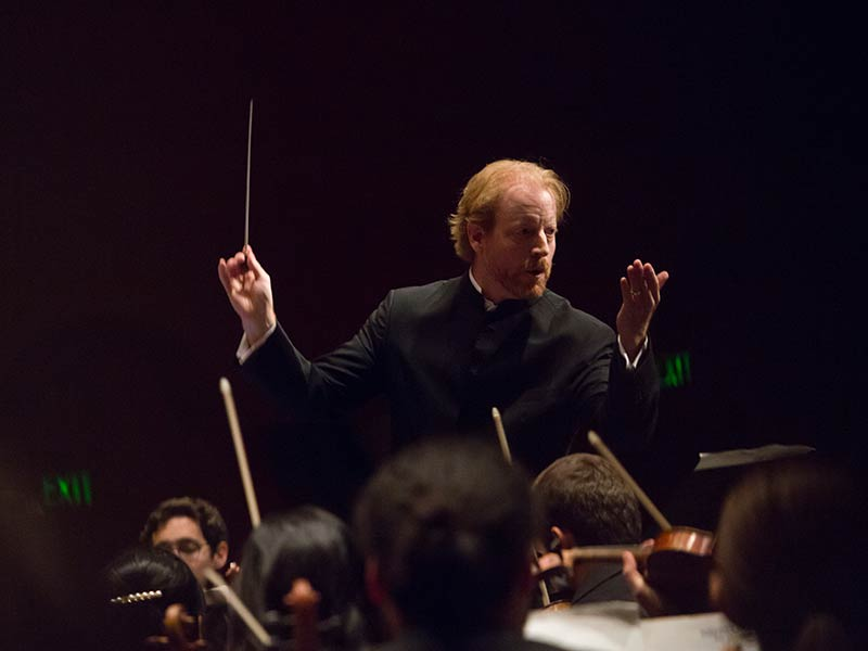 A symphony conductor