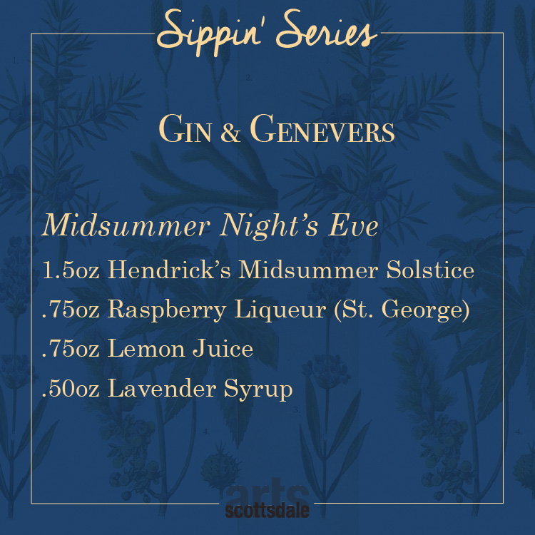 Gin and Genevers Recipe Card